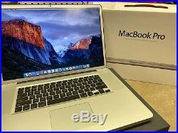 17 Apple MacBook Pro Mid 2009 2.8 GHz 8GB 500GB EVO SSD MINT! EXTRAS