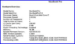 2.8GHz Intel Quad Core i7 Macbook Pro 15 Mid 2015 with 16GB RAM and 500GB SSD
