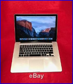 APPLE MACBOOK PRO 15.4 A1286 2.53GHz 4GB Ram 250GB Core 2 Duo Mid 2009
