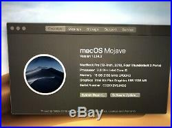 Apple 13.3 MacBook Pro (mid 2018) With Touch Bar 2.3 GHz i5 256GB SSD 16GB RAM