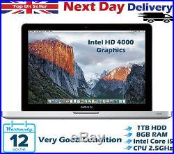 Apple MacBook Pro 13.3 Intel Core i5 2.50GHz 8GB RAM 1TB HDD Mid 2012 OS Mojave