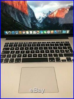 Apple MacBook Pro 15 Inch Retina Mid 2015 16gb Ram/256gb Ssd/2.2ghz Quad Core i7