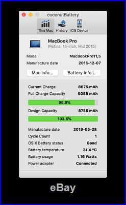 Apple MacBook Pro 15 Retina Mid 2015 i7 16GB RAM 512 GB SSD NEU s. Beschreibung