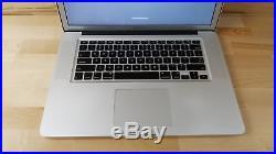 Apple MacBook Pro (15-inch Mid 2012 Unibody) 2.6 GHz Intel core i7 750GB HDD 8GB