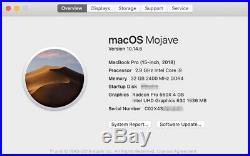 Apple MacBook Pro (15-inch Mid-2018) 2.9 GHz Intel Core i9 1TB SSD 32GB RAM