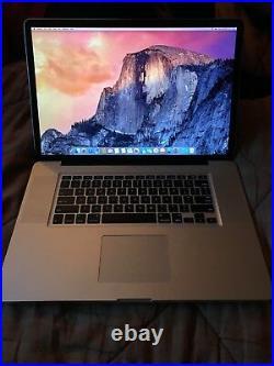 Apple MacBook Pro 6,1 A1297 MC024LL/A 17 Laptop (Mid 2010) 8GB RAM with Adobe