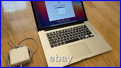 Apple MacBook Pro A1398 15.4 inch Laptop Mid 2015 2.2GHz 16GB Cracked Screen