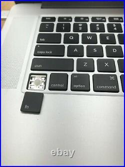 Apple MacBook Pro A1398 Mid-2015 Core i7-4770HQ 2.2GHz 15 16GB RAM NO SSD READ