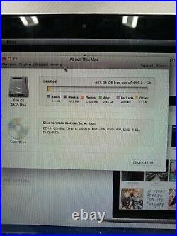 Apple MacBook Pro Mid-2012 13.3 Core i5 2.5GHz 4GB RAM 500GB A1278 REAS DESCRIP
