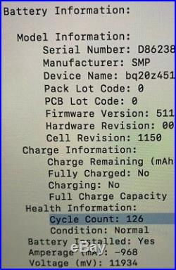 Apple MacBook Pro Mid 2012 Retina i7 2.3GHz 8GB RAM 256GB SSD 15 GeForce GT650m