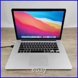 Apple MacBook Pro Retina 15 Quad i7 2.80GHz 16GB 512GB SSD Dual GPU Mid 2015