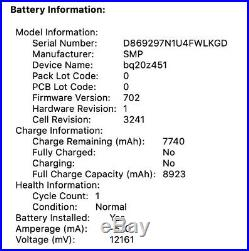 Apple MacBook Pro Retina 15-in Mid 2015, 1TB, i7 2.8GHz, 16GB RAM, New Battery
