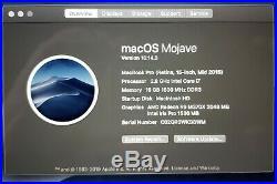 Apple MacBook Pro mid-2015 15 Retina I7 2.8GHz 500MB SSD 16GB RAM 2GB GFX