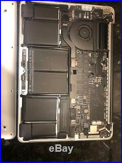 Apple Macbook Pro Core i5 2.6GHz 13in 8GB A1502 Mid 2014/crack Screen Asis parts