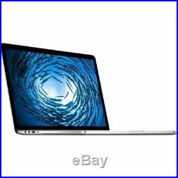 Apple Macbook Pro Mjlq2ll/a Mid-2015 Silver I7-4770hq 2.2GHz 16GB 15.4 256GB SSD