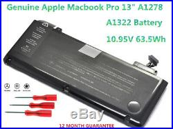 Genuine OEM Original A1322 Battery for Macbook Pro 13 A1278 Mid 2009-2012