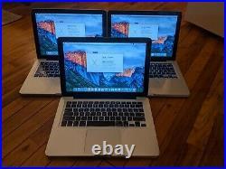 Lot of 3 Apple MacBook Pro 13-inch Mid 2010 120GB SSD 4GB MAC OSX Parts/Repair