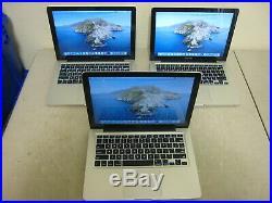 Lot of 3 Apple MacBook Pro A1278 13 Mid 2012 i5 8GB RAM 1TB HDD Laptop Lot