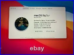 MACBOOK PRO RETINA 15in Mid 2014 2.2 GHz Quad-Core i7 16GB 256 SSD MINOR ISSUE
