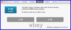 MacBook Pro 13.3 Intel Core i7 2.9 GHz-8GB RAM 500GB SATA Disk Mid 2012 UK KB