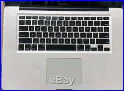MacBook Pro 15 Mid 2012 Intel I7 2.3ghz 8gb RAM 500gb SSD, Unused AC Adaptr, GC