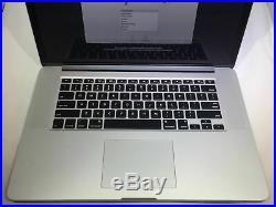 MacBook Pro 15 Retina Mid 2015 2.2 GHz Intel Core i7 16GB 256GB Very Good Condit
