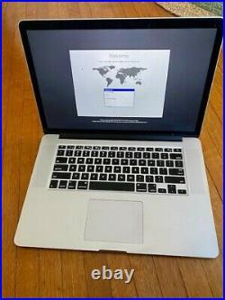 MacBook Pro 15 Retina Mid 2015 2.2GHz i7 16GB 256GB Great Condition