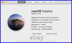 MacBook Pro, 15 Retina, Mid 2015, 2.5 GHz Quad-Core i7, 16GB, 500 SSD, Iris Pro