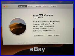 MacBook Pro Mid 2015 500Gig SSD 16Gig RAM 15 Retina Display 2.5Ghz i7 SEE DESC