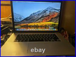 MacBook Pro Retina 15 Inch Mid 2012 2.6 GHz Intel Core i7 16GB Ram 256GB SSD