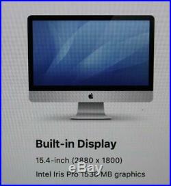 MacBook Pro Retina 15 Mid 2015, i7, 16GB, 512GB SSD