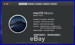 MacBook Pro Retina 15-inch Mid 2012 2.6 GHz i7 8GB RAM 512GB SSD NVIDIA