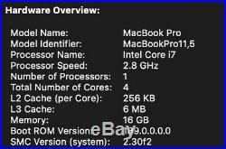 MacBook Pro (Retina, 15-inch, Mid 2015) 1TB Flash, 2.8GHz Intel i7, 11,5 Graphics