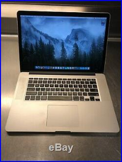 MacBook Pro Retina 15inch Mid 2014 2.2 GHz i7 16GB 500GB Adobe CS6 & Word