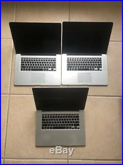 MacBook Pro Retina 15inch Mid 2014 2.2 GHz i7 16GB 500GB LOT OF 3