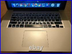 Macbook Pro Mid-2014 Retina 15 inch 500GB SSD 16GB RAM + 2.5GHZ (Quad Core i7)