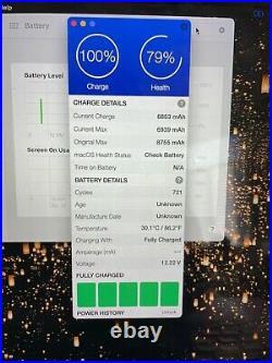 Macbook Pro Retina Mid-2015 15 inch, 16gb, 79% Battery, AMD Radeon, MJLT2LL/A
