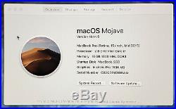 Mid 2015 Apple Macbook Pro 15 15.4 Retina i7 2.8GHZ / 16GB 2TB SSD / MJLU2LL/A