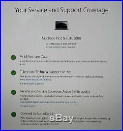 STELLAR 15 Mid 2018 Apple MacBook Pro 2.9GHz 6-Core i9 32GB RAM 1TB APPLECARE+